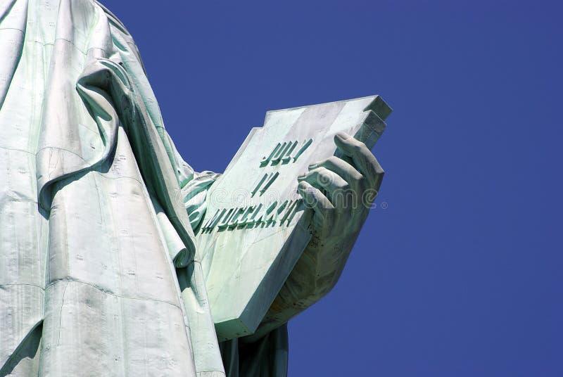Estátua da liberdade - detalhe 01 imagem de stock