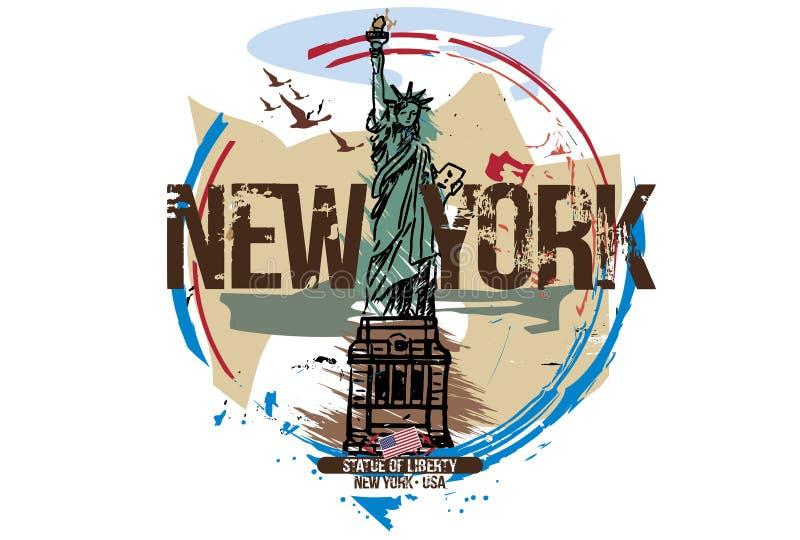 Estátua da liberdade, New York/EUA ilustração do vetor