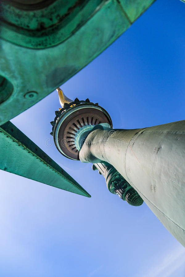 Estátua da liberdade - tocha e coroa foto de stock royalty free