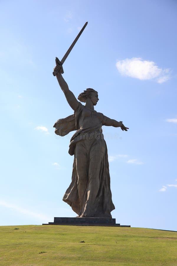 Estátua da matriz Rússia, Volgograd, Rússia imagens de stock