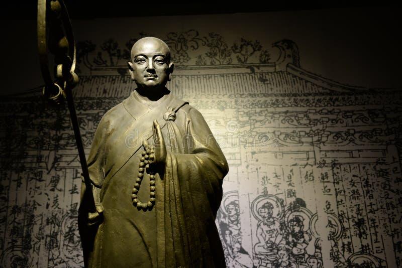 Estátua da monge Xuanzang fotos de stock royalty free