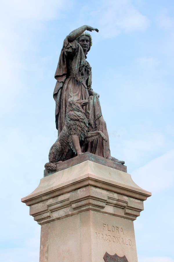 Estátua da mulher escocesa histórica fotografia de stock