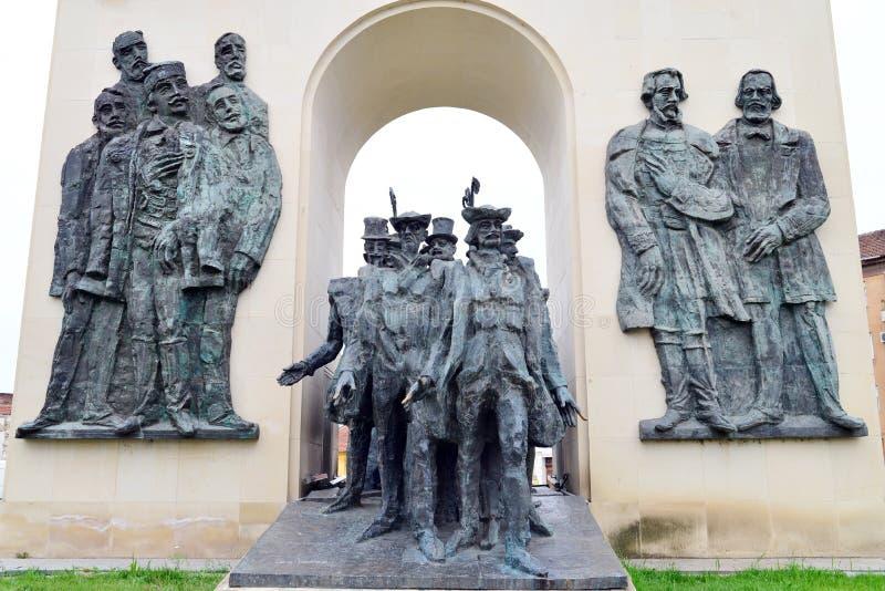 Estátua da reconciliação de Arad foto de stock