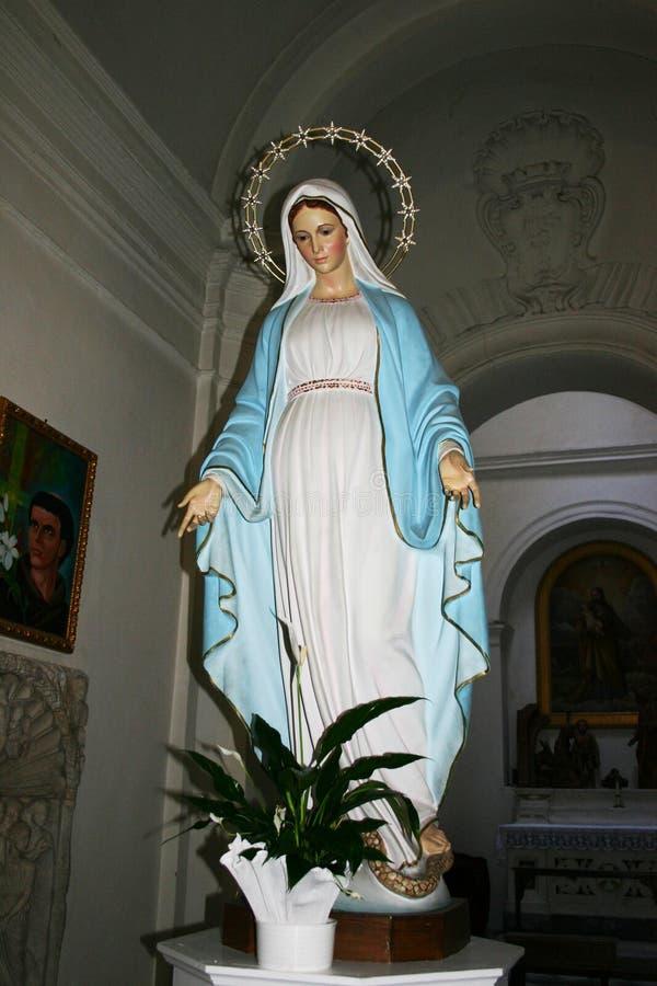 Estátua da Virgem Maria fotos de stock royalty free
