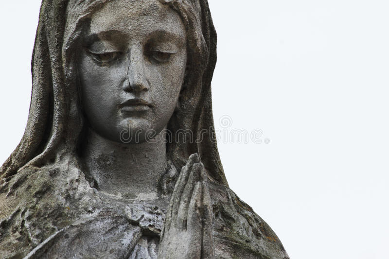 Estátua da Virgem Maria fotografia de stock royalty free