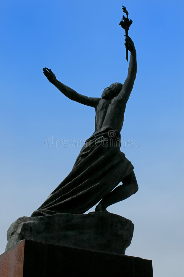 Estátua da vitória fotos de stock