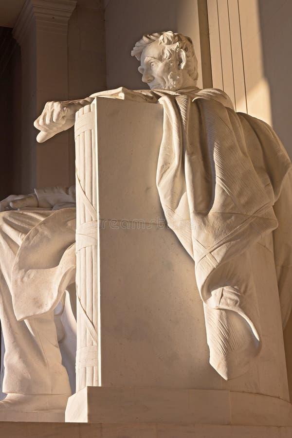 A estátua de Abraham Lincoln, Lincoln Memorial, Washington DC imagens de stock royalty free