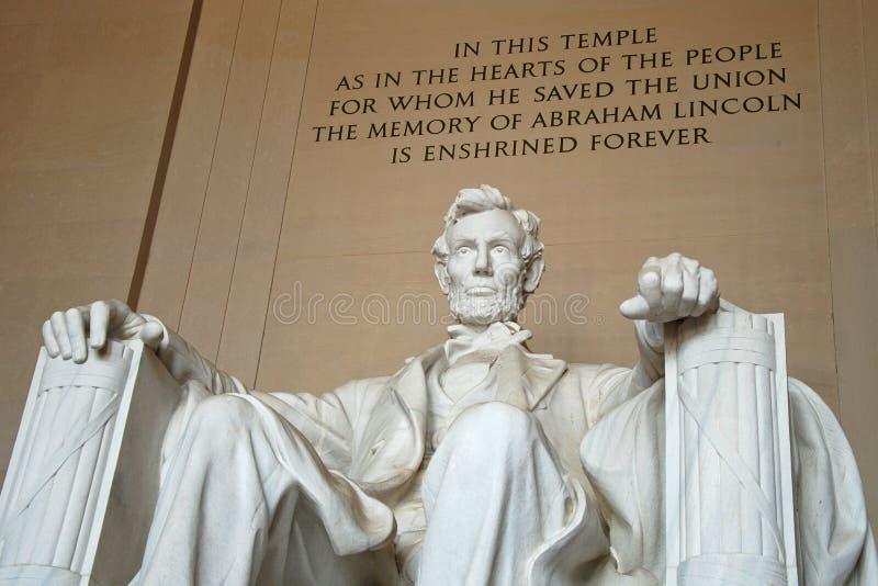 Estátua de Abraham Lincoln no memorial de Lincoln foto de stock