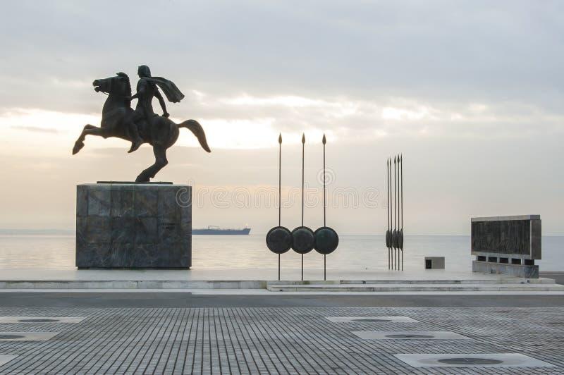 Estátua de Alexander o grande foto de stock
