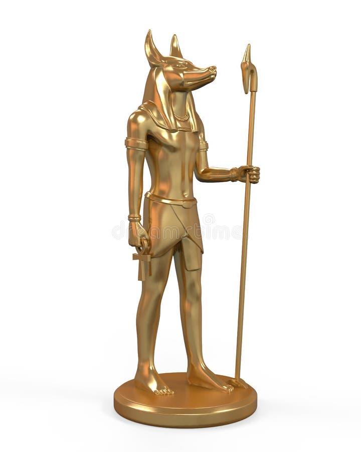 Estátua de Anubis do egípcio ilustração stock