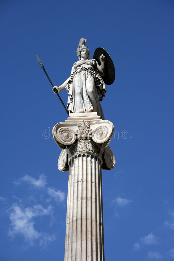 Estátua de athena imagens de stock royalty free