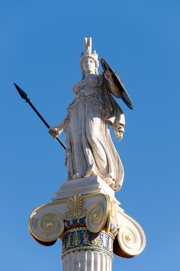 Estátua de Athena imagem de stock