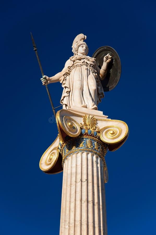A estátua de Athena. Atenas, Grécia. imagem de stock