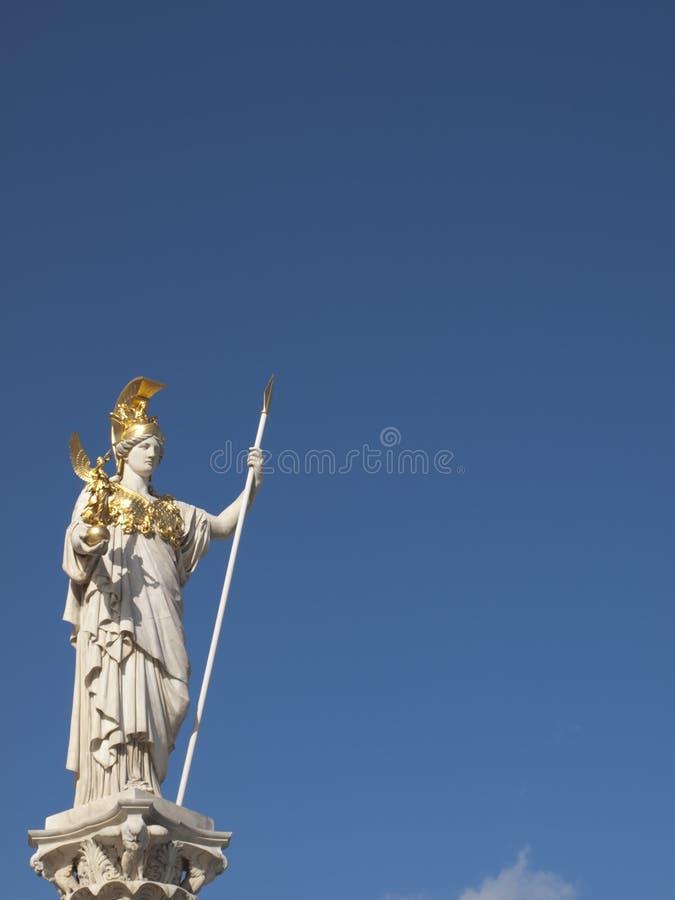 Estátua de Athena em Viena fotografia de stock