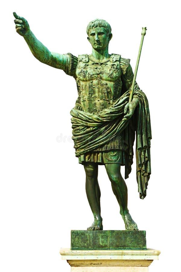 Estátua de Augustus em Roma, Itália fotografia de stock