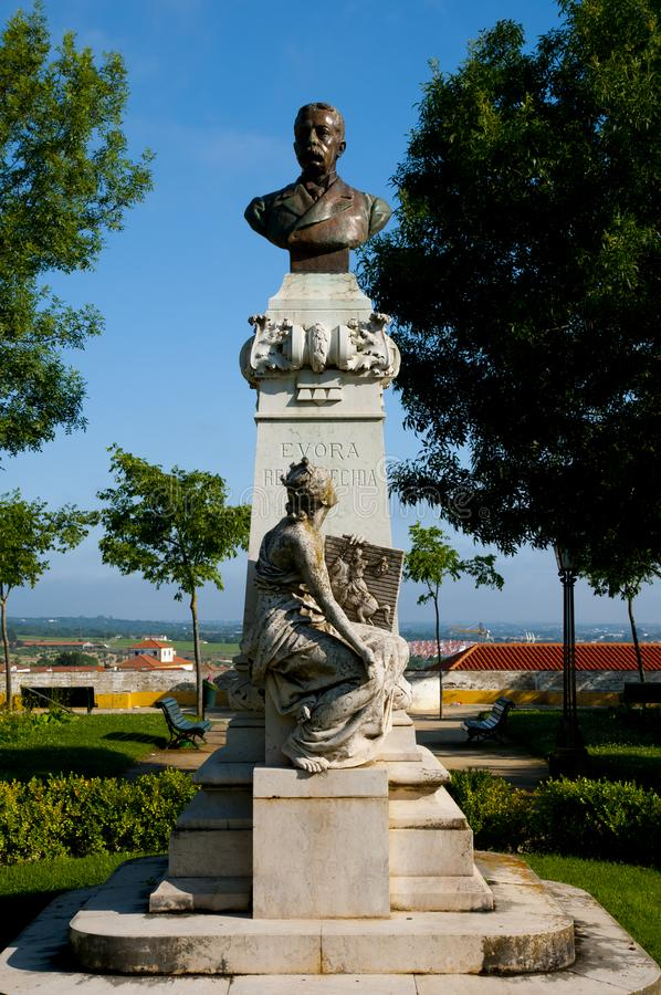 Estátua de Barahona em Diana Park imagens de stock royalty free