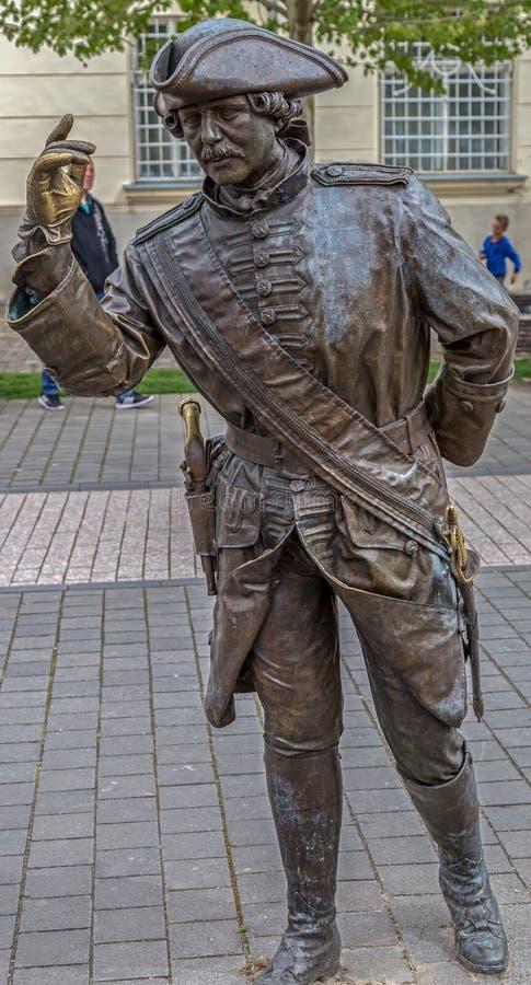Estátua de bronze em Alba Iulia, Romênia imagem de stock royalty free