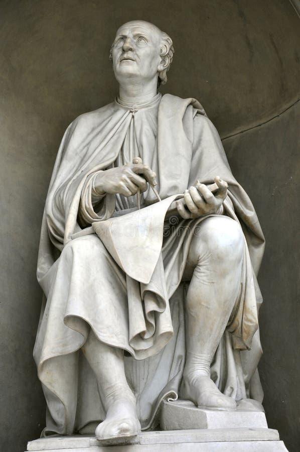 Estátua de Brunelleschi fotos de stock royalty free