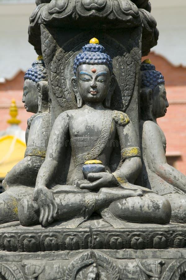 Estátua de Buddha em Nepal fotografia de stock