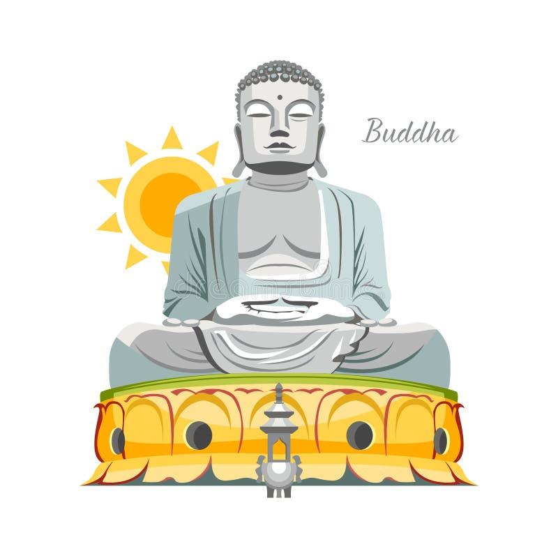 Estátua de Budha ilustração do vetor