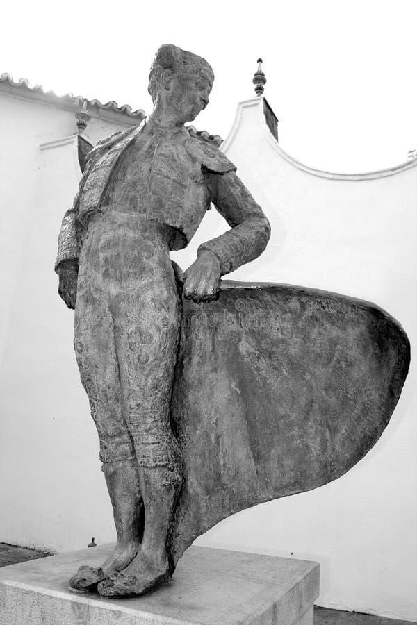 Estátua de Cayetana Ordonez, Ronda, Spain imagens de stock royalty free