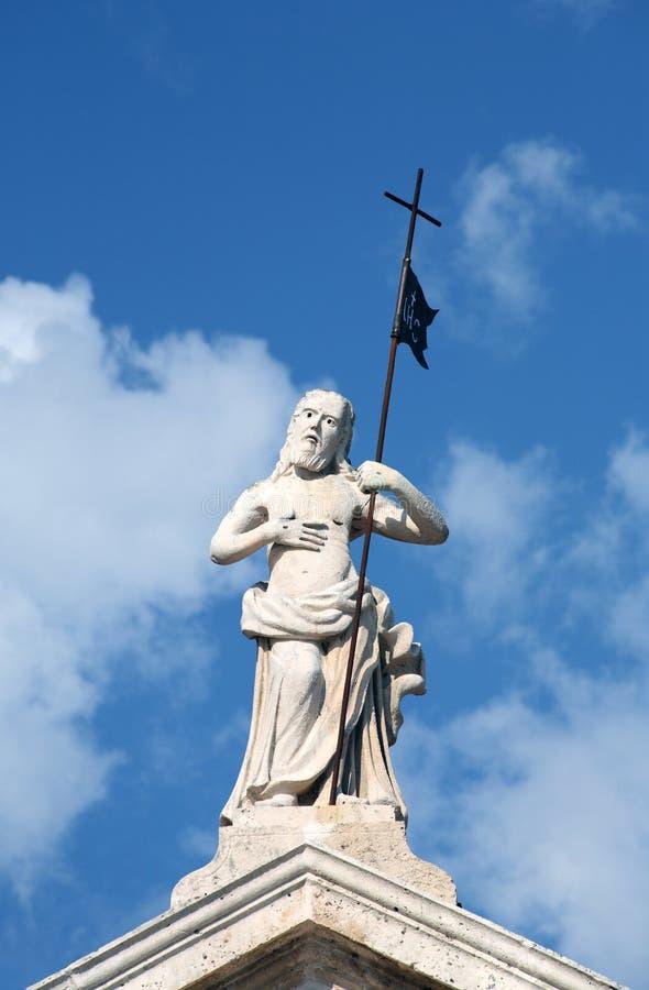 Estátua de Christ no perast, Montenegro fotos de stock royalty free