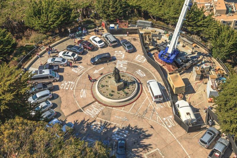 Estátua de Christopher Columbo fotos de stock