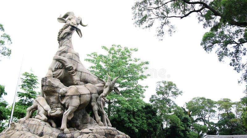 A estátua de cinco ram do parque de Yuexiu, Guangzhou, China fotografia de stock