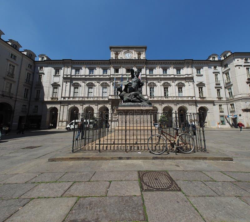Est?tua de Conte Verde em Turin imagem de stock
