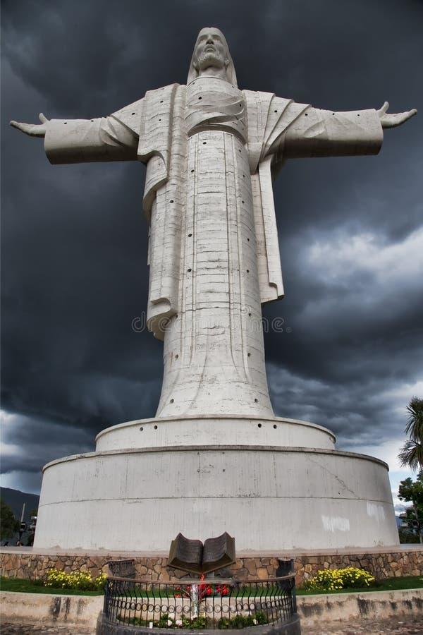 Estátua de cristo de la concordia fotos de stock royalty free