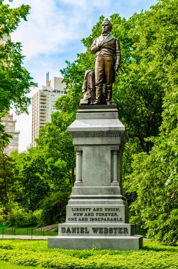 Estátua de Daniel Webster no Central Park New York fotografia de stock royalty free