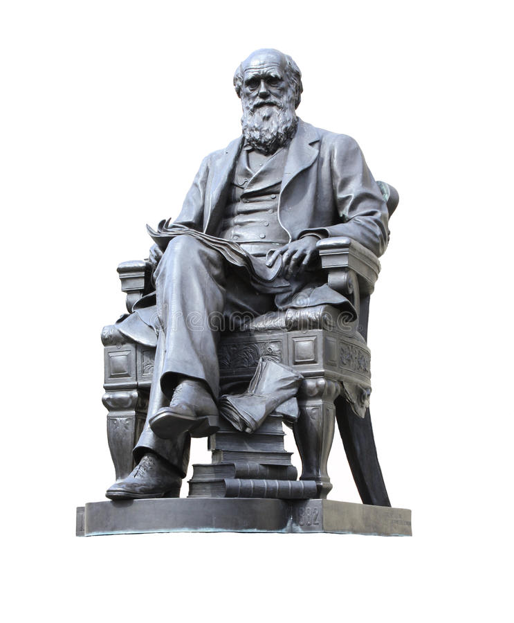 Estátua de Darwin fotos de stock