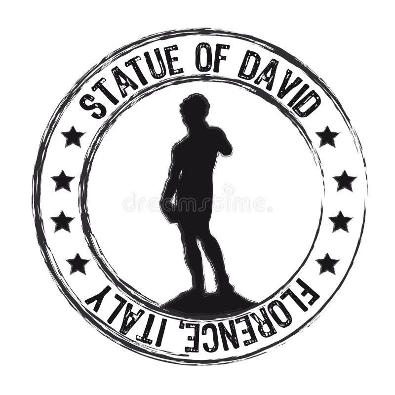 Estátua de david ilustração royalty free