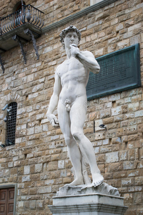 Estátua de David por Michelangelo imagens de stock
