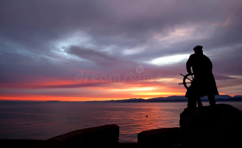 Estátua de Dic Evans imagem de stock