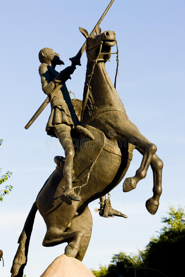 Estátua de Don Quijote imagem de stock