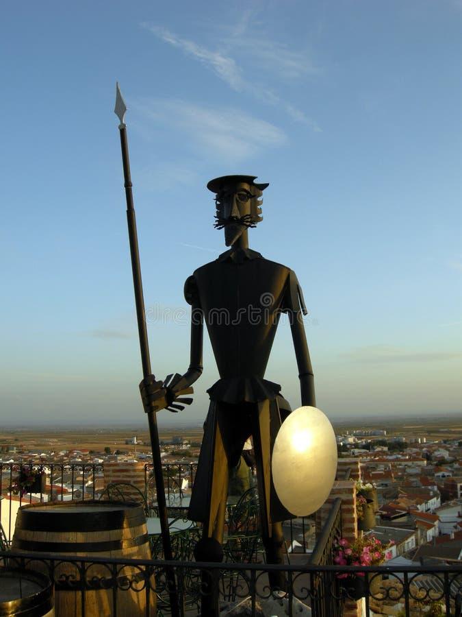 estátua de Don Quixote fotos de stock royalty free