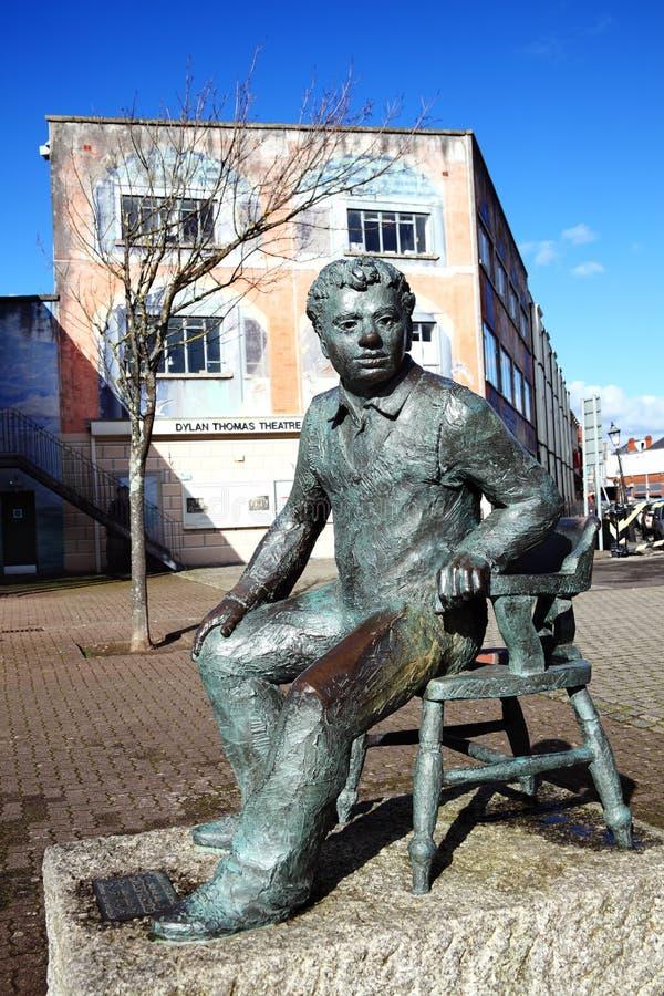 Estátua de Dylan Thomas fotos de stock