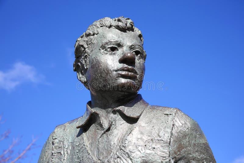 Estátua de Dylan Thomas fotografia de stock royalty free
