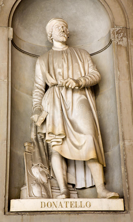 Estátua de Florença - de Donatello imagens de stock royalty free