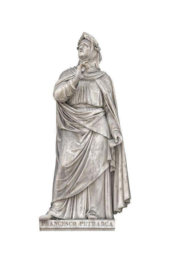 Estátua de Francesco Petrarca, fundador do humanismo imagens de stock
