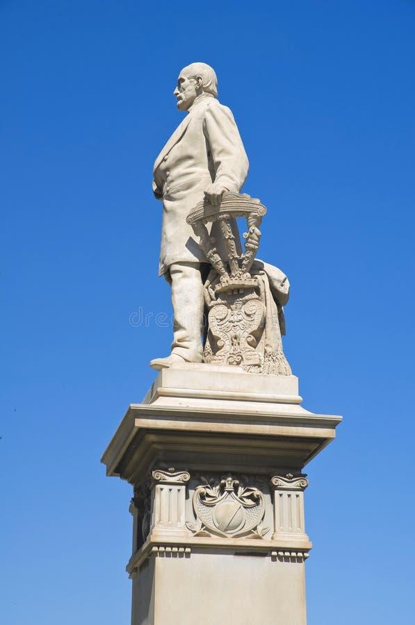 Estátua de Giuseppe Mazzini. fotos de stock