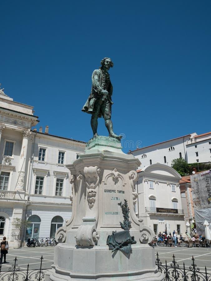 Estátua de Giuseppe Tartini fotos de stock royalty free