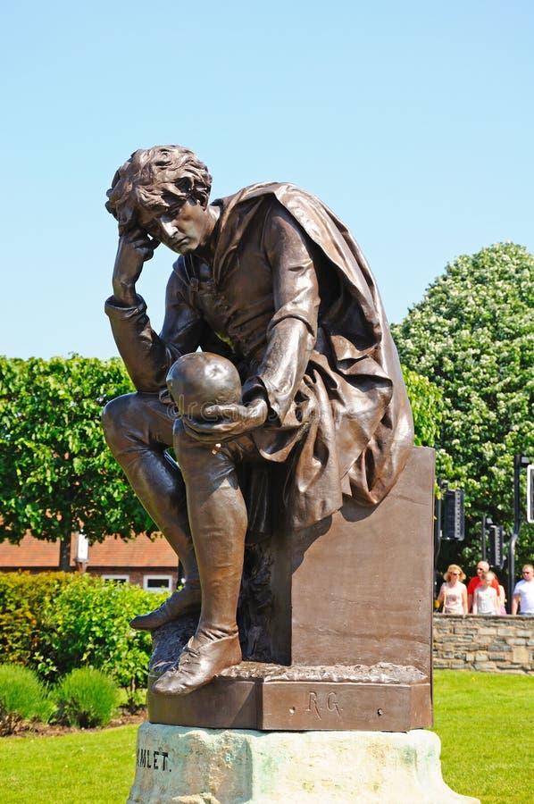 Estátua de Hamlet, Stratford-em cima-Avon fotos de stock