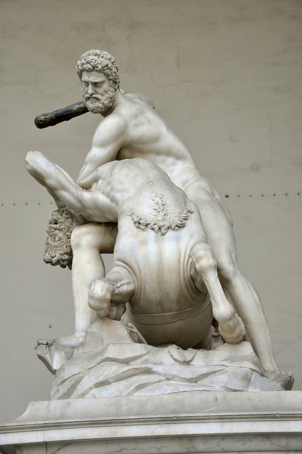 Estátua de Heracles e de Nessus imagens de stock