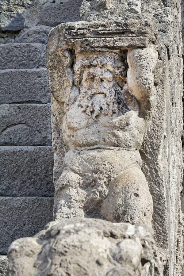 Estátua de Hercules em Pompeii foto de stock royalty free