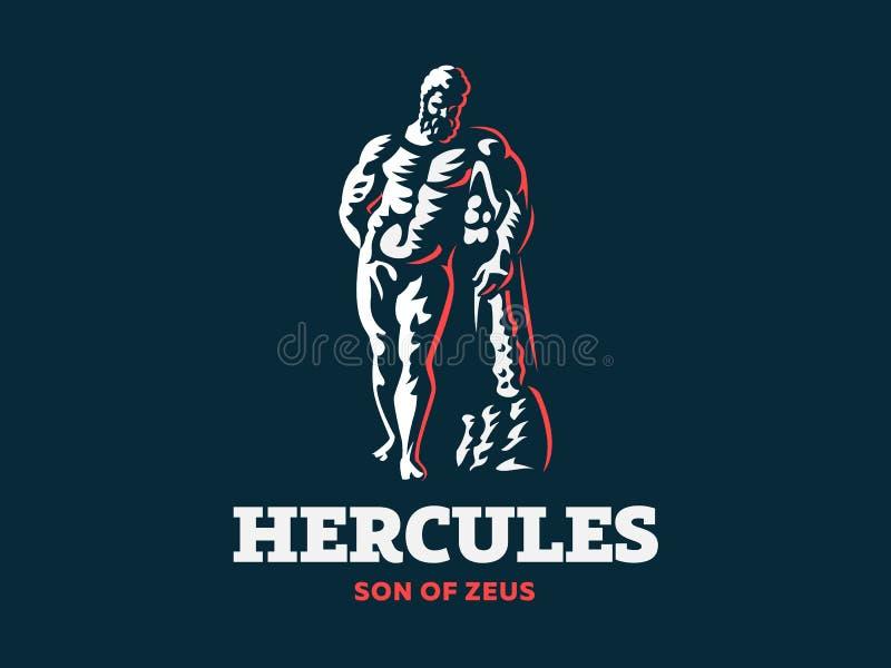 A estátua de Hercules Ilustração do vetor ilustração stock