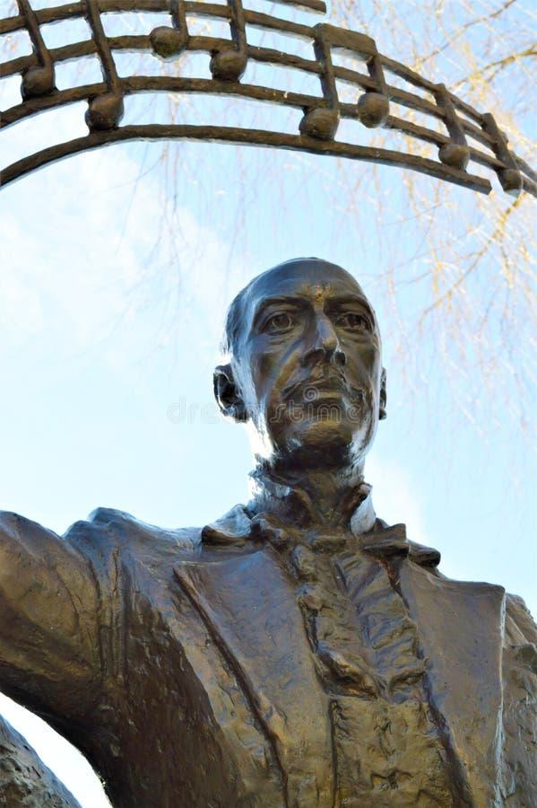 Estátua de Igor Stravinsky no lago geneva, Montreux foto de stock