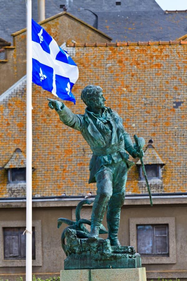 Estátua de Jacques Cartier imagem de stock