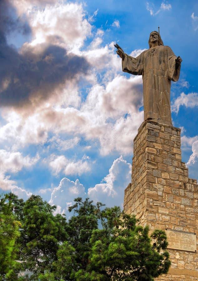 Estátua de Jesus Christ em Tudela, Espanha fotografia de stock